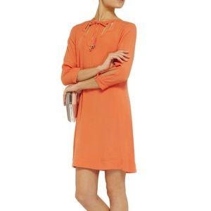 Diane Von Furstenberg Kea Cutout Crepe Shift Dress